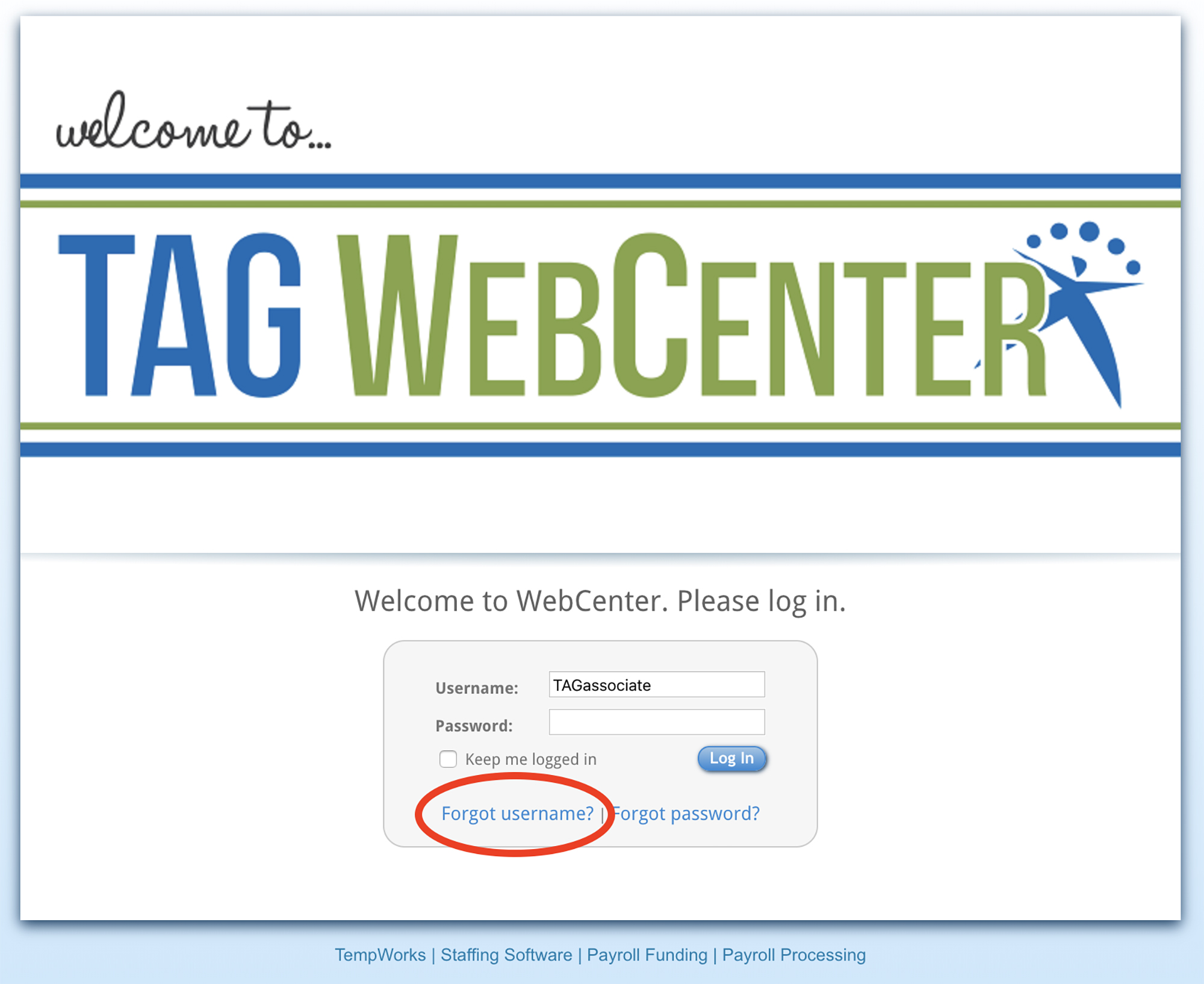 TAG WebCenter Welcome